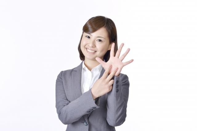 3本指の女性